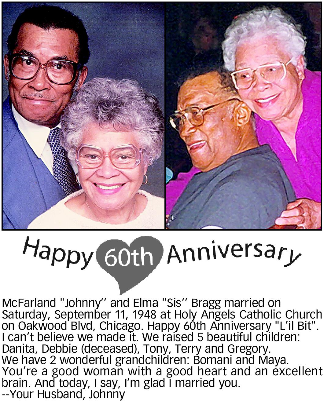 60th Wedding Announcement
